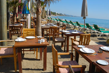 Strandrestaurant in Andalusien