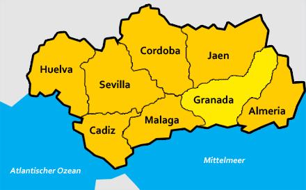 Granada Karte.Granada Provinz In Andalusien