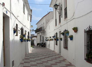 Gasse in Andalusien